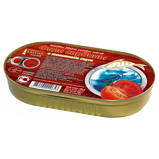 Sardine fillets in tomato sauce 190g (EO)