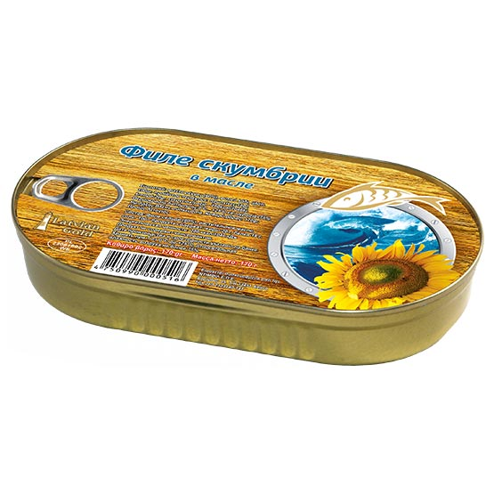Mackerel fillets in oil 170g (EO)