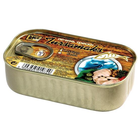 Natural cod liver 120g (EO)