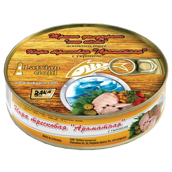 Cod liver with caviar 240g (EO/noEO)