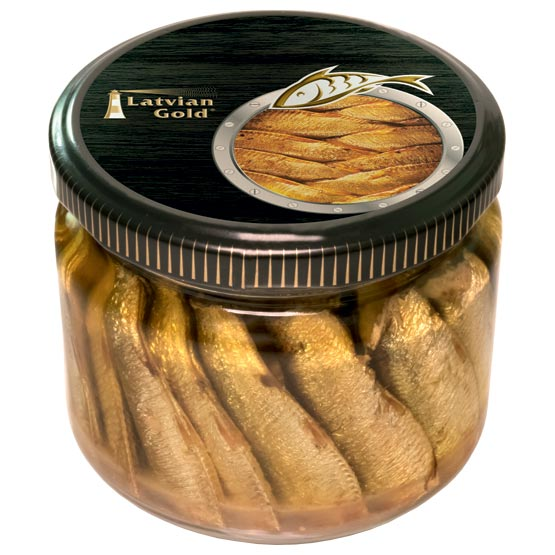 Sprats in oil 250g (in glass)