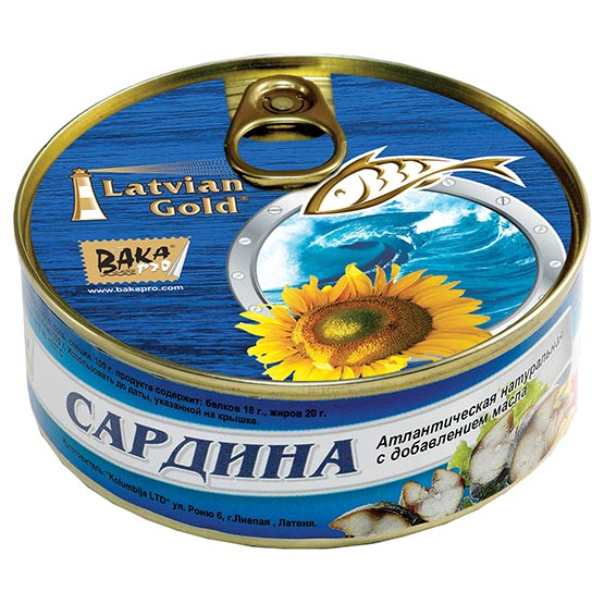 Natural sardines. Oil added 240 g (EO/noEO)