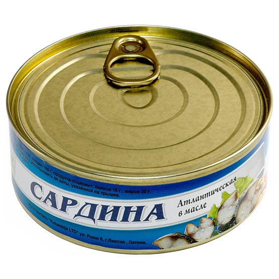 Sardines in oil 240 g (EO/noEO)