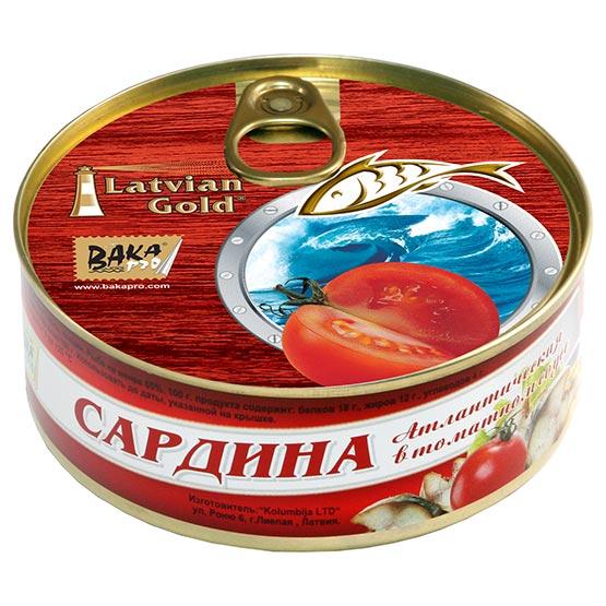 Sardines in tomato sauce 240 g (EO/noEO)