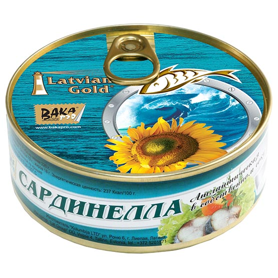 Natural flat sardines. Oil added 240 g (EO/noEO)