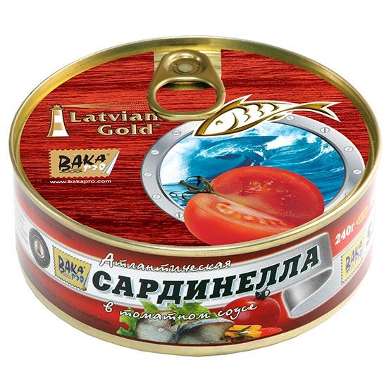 Flat sardines in tomato sauce 240 g (EO/noEO)