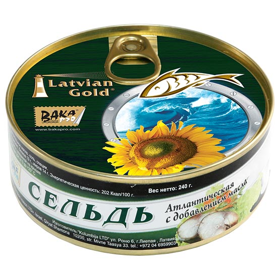 Natural herring. Oil added 240 g (EO/noEO)
